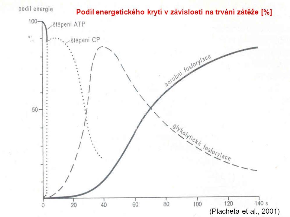 Podíl energetického krytí v závislosti na trvání zátěže [%]